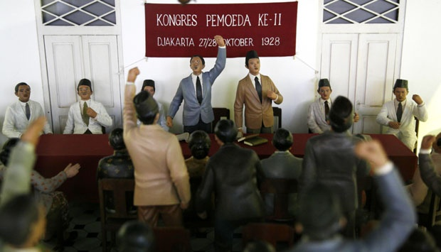 Diorama Suasana Kongres Pemuda ke-II di Museum Sumpah Pemuda Jakarta  (Foto diambil dari Tempo.co)